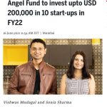 In News On Midday - Newly Launched GoodWorks Angel Fund To Invest Up To USD 200,000 in 10 Start-ups In FY22